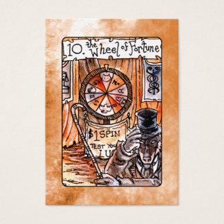 La rueda de la carta de tarot de la fortuna tarjeta de negocios