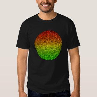 La rueda maya por el ~ alegre de Rastafari no Camiseta