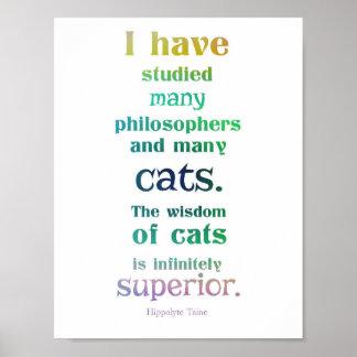 La sabiduría de gatos póster