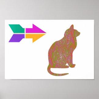 La SABIDURÍA del animal de mascota del CAT barata  Póster