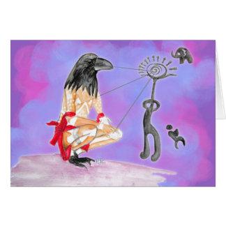La sabiduría es comunión sagrada tarjeta pequeña