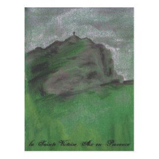 la Sainte Victoire en invierno Postal