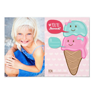 La sala de clase linda del helado embroma la invitación 8,9 x 12,7 cm