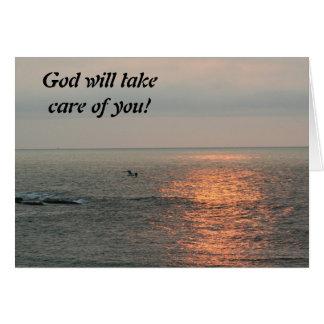¡La salida del sol, dios tomará el cuidado de uste Tarjetón