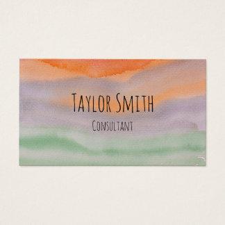 la salpicadura de la pintura de la acuarela raya tarjeta de visita