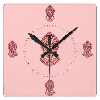 La sandalia del profeta (alheña) (rojo) reloj cuadrado