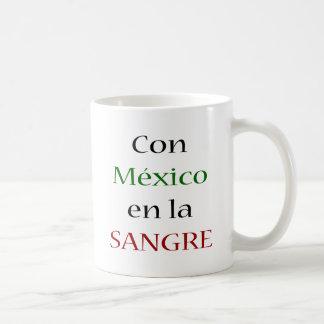 La Sangre del En de México de la estafa Taza Básica Blanca