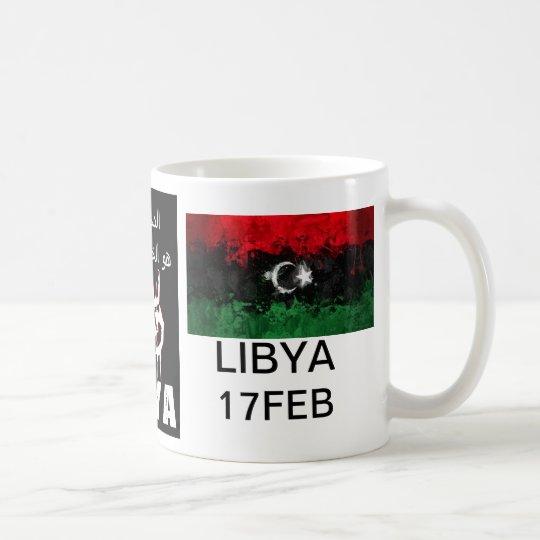 La sangre libia es la línea roja taza de café
