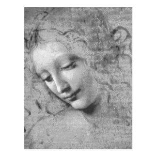 La Scapigliata de Leonardo da Vinci Postal