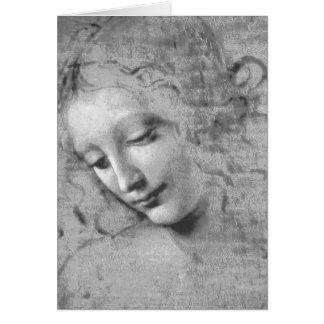La Scapigliata de Leonardo da Vinci Tarjeta De Felicitación