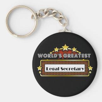 La secretaria legal más grande del mundo llavero redondo tipo chapa