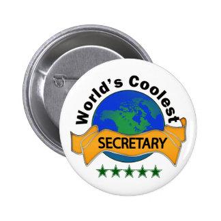La secretaria más fresca del mundo chapa redonda de 5 cm