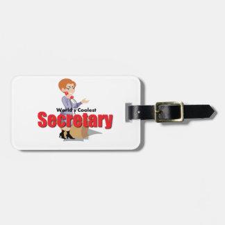 La secretaria más fresca del mundo etiquetas para equipaje