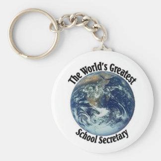 La secretaria más grande de la escuela del mundo llaveros personalizados