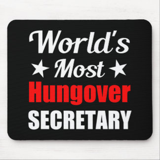 La secretaria más hungover Funny Drinking del Alfombrilla De Ratón