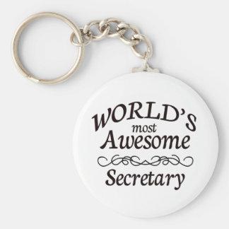 La secretaria más impresionante del mundo llavero redondo tipo chapa
