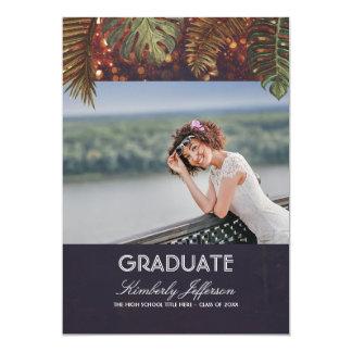 La secuencia de la playa enciende la graduación de invitación 12,7 x 17,8 cm