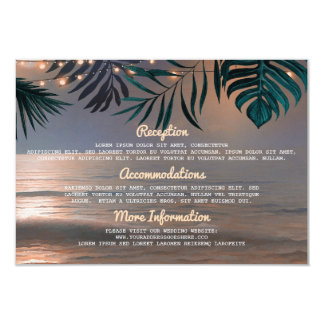 La secuencia de la playa enciende la tarjeta de la invitación 8,9 x 12,7 cm