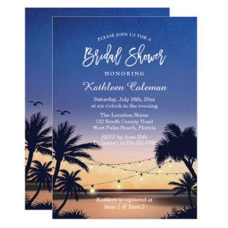 La secuencia de la puesta del sol del Palm Beach Invitación 12,7 X 17,8 Cm