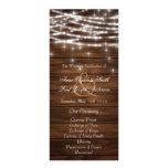La secuencia de madera enciende programas del boda folleto publicitario 10 x 22,8 cm