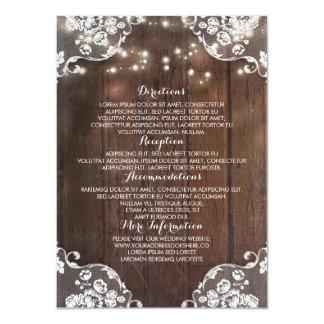 La secuencia de madera rústica del granero invitación 11,4 x 15,8 cm