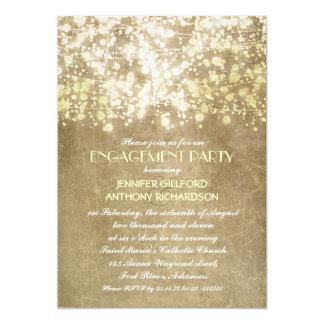 la secuencia enciende al fiesta de compromiso invitación 12,7 x 17,8 cm