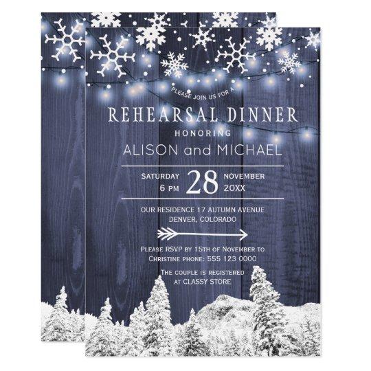 La secuencia enciende la cena del ensayo del invitación 12,7 x 17,8 cm