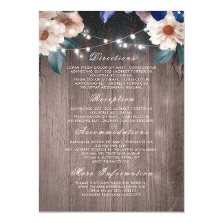 La secuencia floral enciende los detalles de invitación 11,4 x 15,8 cm