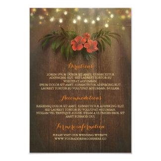 La secuencia floral tropical enciende el parte invitación 8,9 x 12,7 cm