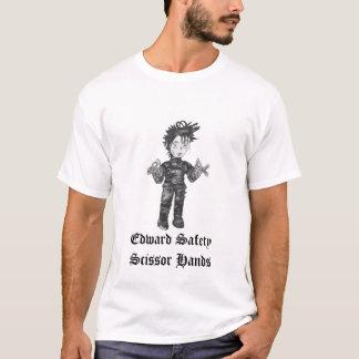 La seguridad de Edward Scissor la camiseta de las