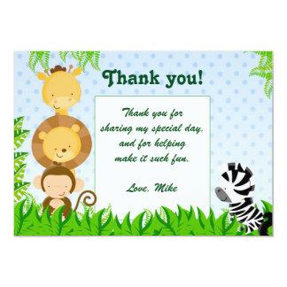 La selva le agradece cardar la ducha del bebé del invitación 12,7 x 17,8 cm