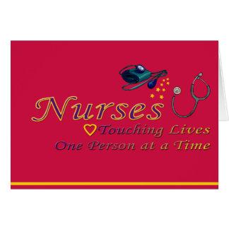 La semana de la enfermera tarjeton