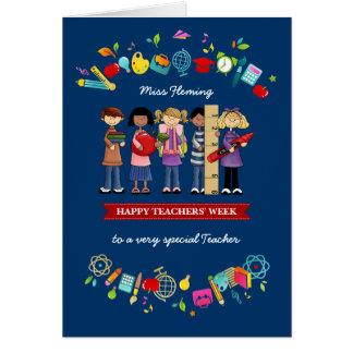 La semana de los profesores felices. Tarjetas de
