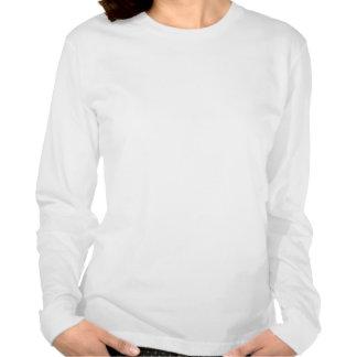 La señora de la blusa de manga larga de la camisetas