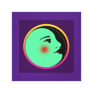 """La señora en la luna 12"""" X12"""" envolvió la lona Lienzo"""