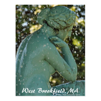 La señora en la postal del oeste de Brookfield de