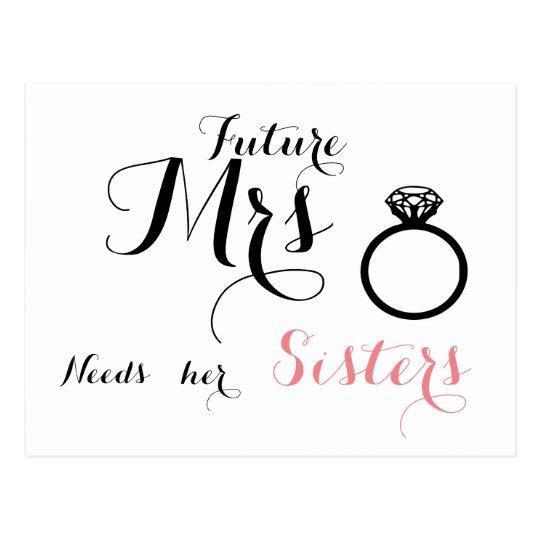 La señora futura necesita a sus hermanas - tarjeta