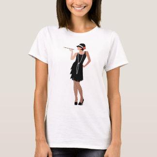 la señora gatsby, alista para ir de fiesta, estilo camiseta