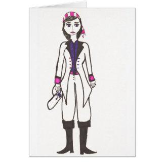 La señora Pirate Tarjeta De Felicitación