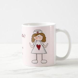 La sensación agradece mejor a una enfermera taza básica blanca