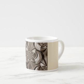 La sepia remolina taza del café express