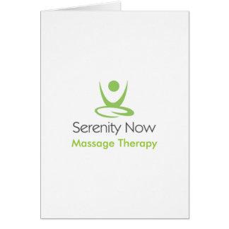 La serenidad ahora da masajes a terapia felicitación