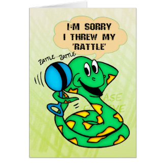 La serpiente triste lanzó traqueteo tarjeta de felicitación