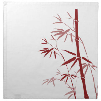 La servilleta de cena de bambú roja fijó (4)
