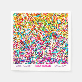 La servilleta del fiesta del tema del caramelo servilletas desechables