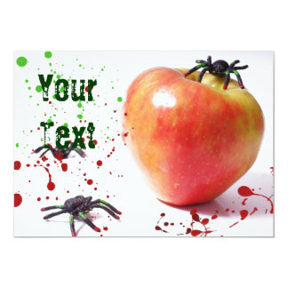 La sidra Apple de la araña invita Invitación 12,7 X 17,8 Cm