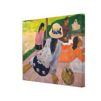 La siesta de las mujeres Tahití de Paul Gauguin Impresión En Lienzo