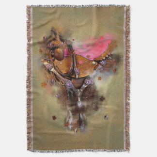La silla de montar II - decoración de la manta/de Manta