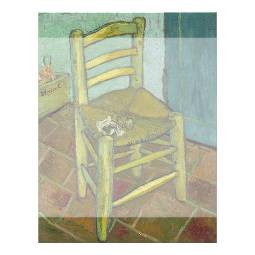 La silla de Van Gogh de Vincent van Gogh Flyer A Todo Color