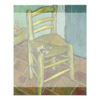 La silla de Van Gogh de Vincent van Gogh Folleto 11,4 X 14,2 Cm